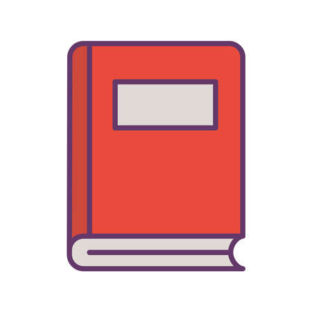 book line and fill style icon design, Education literature and read theme Vector illustration Illustration