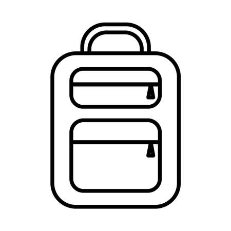 School bag line style icon design, education class lesson knowledge preschooler study learning classroom and primary theme Vector illustration Illustration