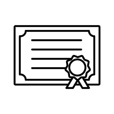 School diploma line style icon design, education class lesson knowledge preschooler study learning classroom and primary theme Vector illustration