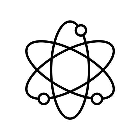 Atom line style icon design, science chemistry and molecular theme Vector illustration