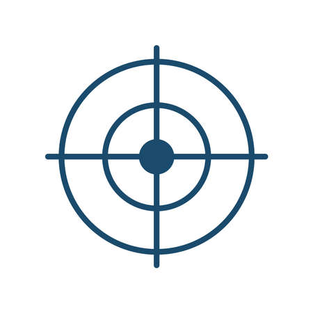 Target flat style icon design, Solution success strategy idea problem innovation creativity inspiration and intelligence theme Vector illustration