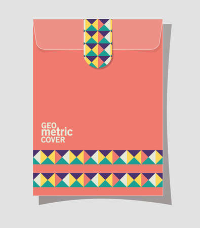 geometric cover file design of Mockup corporate identity template and branding theme Vector illustration 일러스트