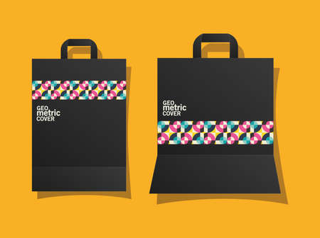 geometric cover bags design of Mockup corporate identity template and branding theme Vector illustration