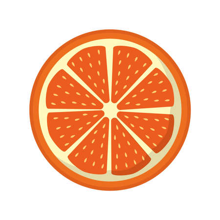 orange flat style icon design, Fruit healthy organic food sweet and nature theme Vector illustration Ilustracja