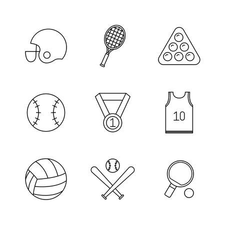 line style icon set design, Sport hobby competition and game theme Vector illustration