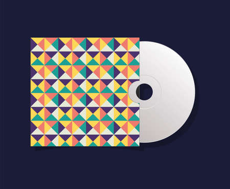 geometric cover cd design of Mockup corporate identity template and branding theme Vector illustration