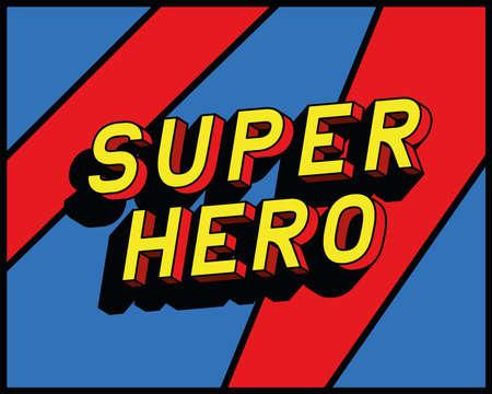 super hero lettering design, typography retro and comic theme Vector illustration
