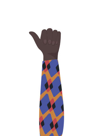 like sign with black hand design, diversity people multiethnic race and community theme Vector illustration Illustration