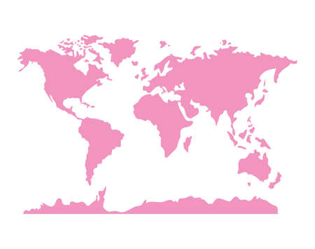 pink world map design, Planet continent earth and globe theme Vector illustration