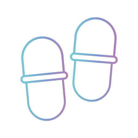 sleeping slippers gradient style icon design, insomnia sleep and night theme Vector illustration