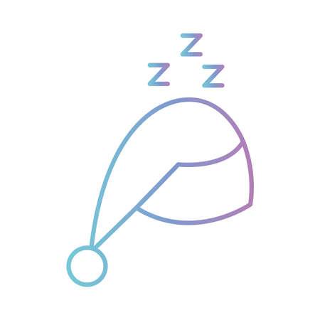 sleeping hat gradient style icon design, insomnia sleep and night theme Vector illustration