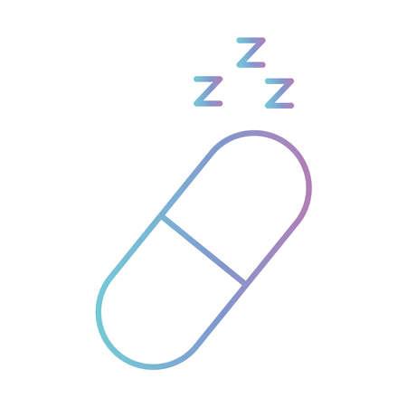 sleeping pill gradient style icon design, insomnia sleep and night theme Vector illustration