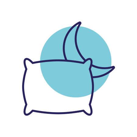 sleeping pillow and moon line style icon design, insomnia sleep and night theme Vector illustration 版權商用圖片 - 156013068