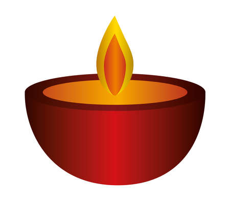 red candle icon design, Fire flame candlelight light spirituality burn and decoration theme Vector illustration