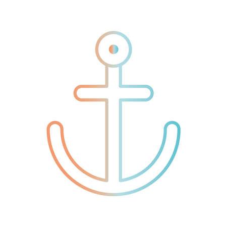 Anchor gradient style icon design Sea nautical ocean navigation travel underwater water and marine theme Vector illustration Stock Illustratie