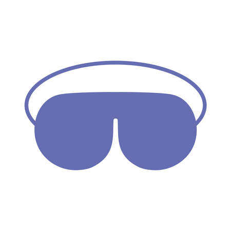 sleeping mask line and fill style icon design, insomnia sleep and night theme Vector illustration 向量圖像