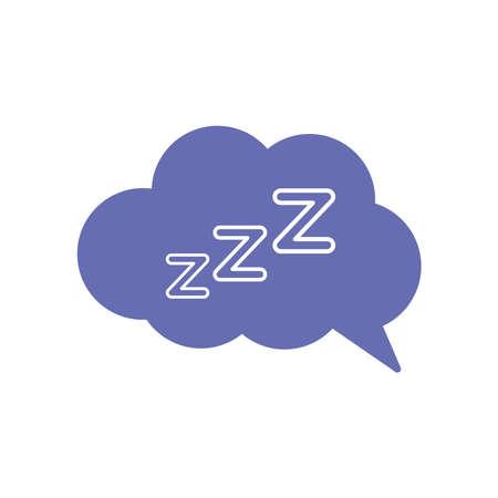 sleeping cloud bubble line and fill style icon design, insomnia sleep and night theme Vector illustration 版權商用圖片 - 156768723