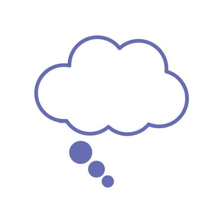 sleeping cloud bubble line and fill style icon design, insomnia sleep and night theme Vector illustration