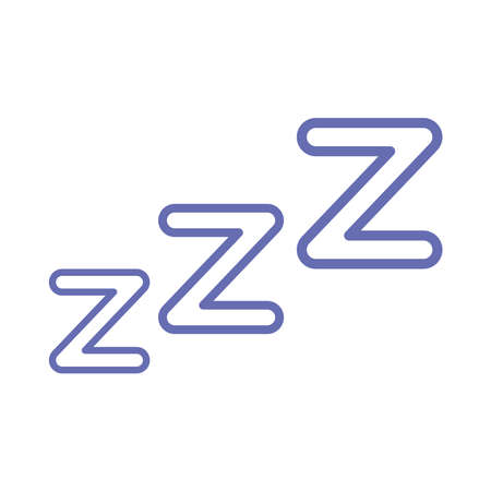sleeping z z z catcher line and fill style icon design, insomnia sleep and night theme Vector illustration 向量圖像