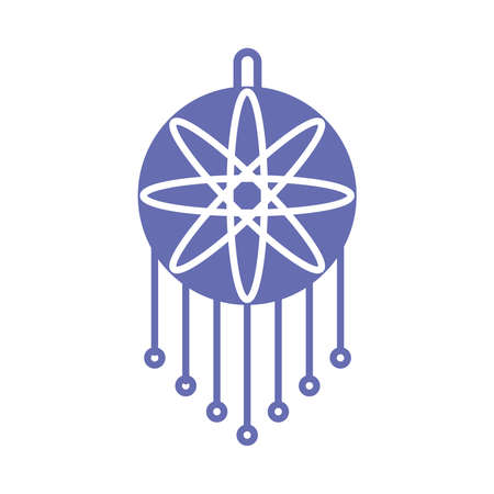 sleeping dream catcher line and fill style icon design, insomnia sleep and night theme Vector illustration