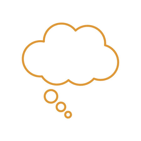 sleeping cloud bubble line style icon design, insomnia sleep and night theme Vector illustration