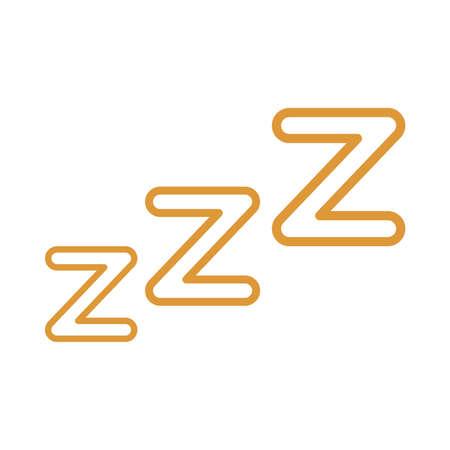 sleeping z z z catcher line style icon design, insomnia sleep and night theme Vector illustration