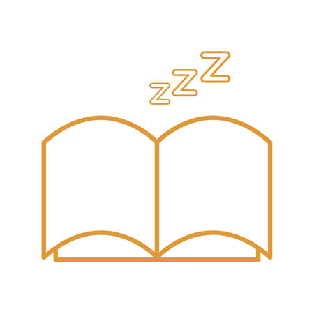 sleeping book line style icon design, insomnia sleep and night theme Vector illustration