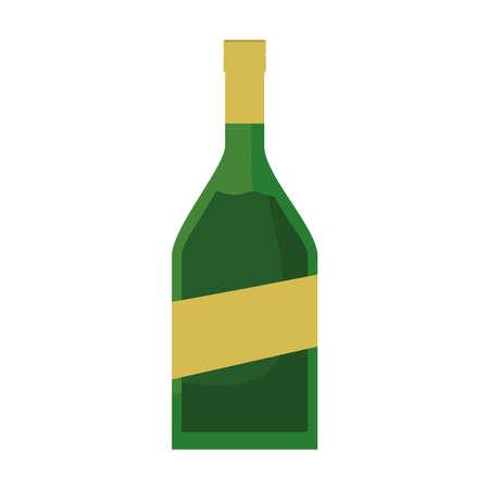 Wine bottle design, Winery alcohol drink beverage restaurant and celebration theme Vector illustration 矢量图像