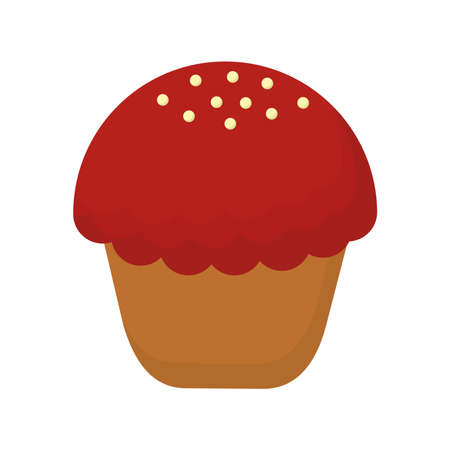 Cupcake design, Muffin dessert sweet and food theme Vector illustration 矢量图像