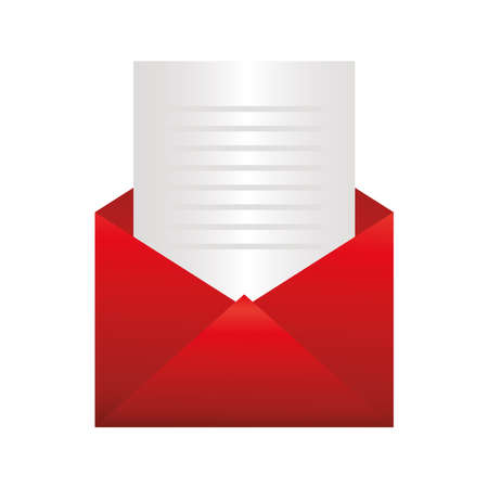 Envelope design, Message email mail and letter theme Vector illustration
