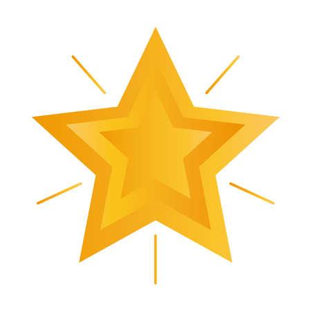 shiny star design, winter season and decoration theme Vector illustration