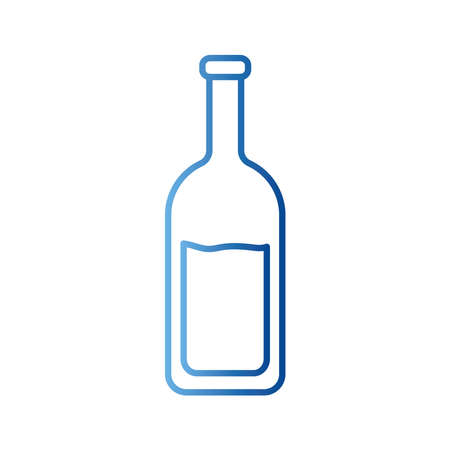Wine bottle gradient style icon design, Winery alcohol drink beverage restaurant and celebration theme Vector illustration Stock Illustratie