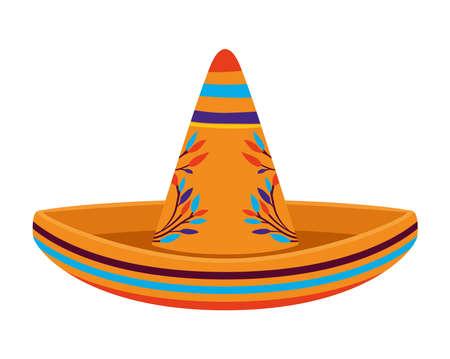 sombrero icon on white background vector illustration design