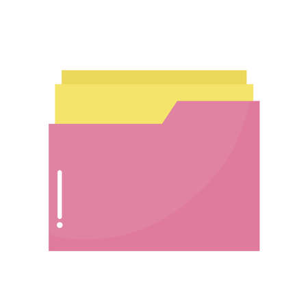 hospital folder of a pink color with some papers vector illustration design