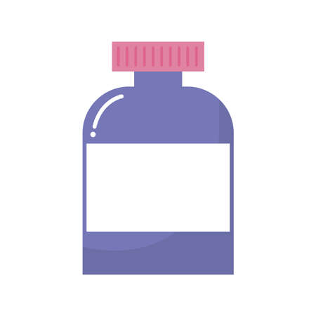 medicine bottle of a purple color vector illustration design