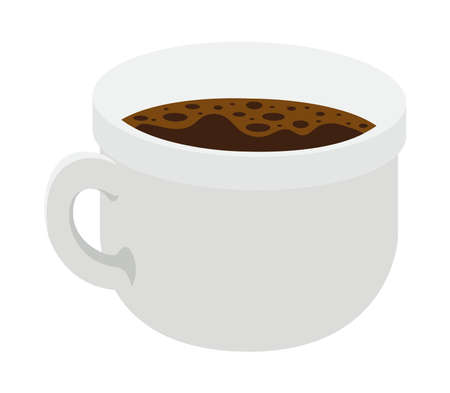 cup of dark coffee over white background vector illustration design