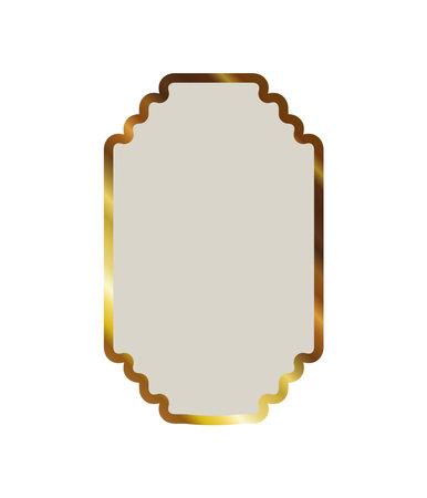 gold frame in a white background vector illustration design Illustration