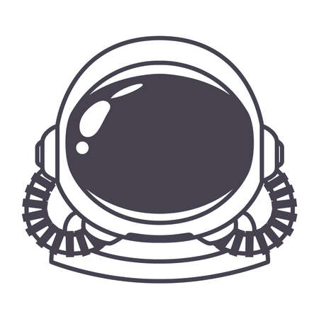 astronaut helmet over a white background vector illustration design  イラスト・ベクター素材