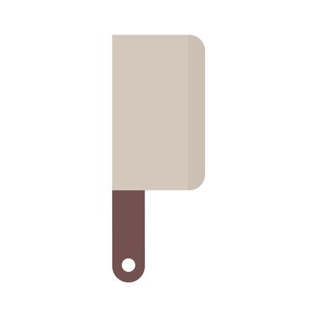 butcher knife on a white background vector illustration design