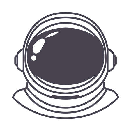 astronaut helmet on white background vector illustration design