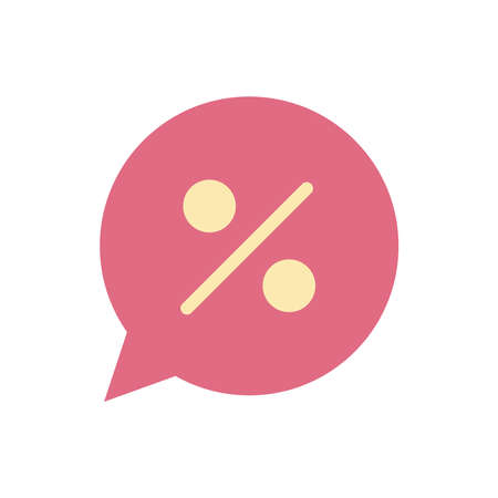 bubble with a percentage symbol in it vector illustration design