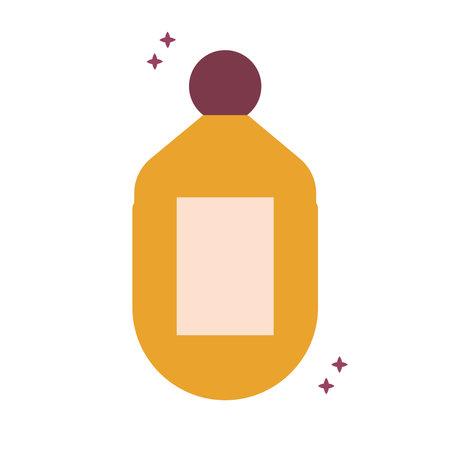 organic orange yellow bottle with sparks vector illustration design