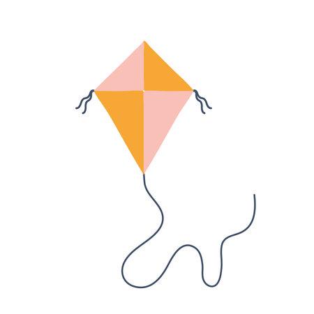 kite on a white background vector illustration design