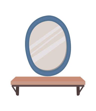 mirror on a white background vector illustration design