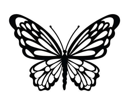 minimalist tattoo of a butterfly vector illustration design Stock Illustratie