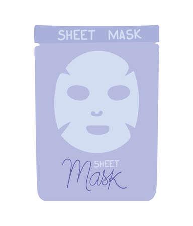 facial mask in purple envelope vector illustration design