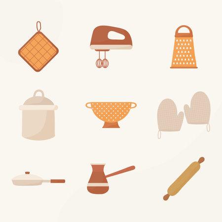 set of nine cooking icons Vecteurs