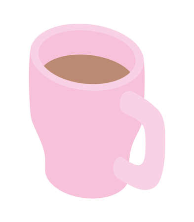 coffee in cup isolated icon