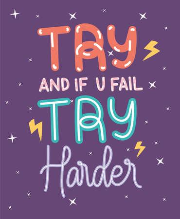 motivation doodle phrase