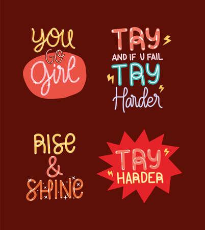 motivation lettering bundle